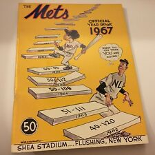 New York Mets Official 1967 Yearbook Excellent Condition Rare Baseball Find