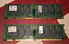 2 X 64MB SDRAM PC-100 100 MHz 128MB CL3 Samsung HP Dimm Ram