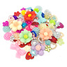 80 Mix Multicoloured Shabby Chic Resin Flatbacks Craft Cardmaking Embellishments