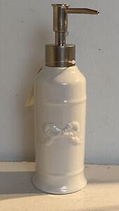 Clayre & Eef Seifenspender Badezimmer Keramik Shabby Vintage Nostalgie 21x6,5 cm
