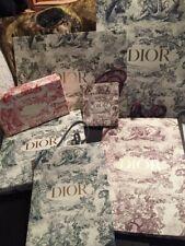 "Lot de 5 sacs shopping DIOR ""Toile de Jouy"""