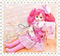 ❤️Takara Licca-chan Rika-chan LD-15 Cosmechic Cosmetic Pink Fashion Doll Japan❤️
