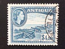 Antigua QE II 1953 $4.80 Slate Blue Used SG 134. (cat £40)