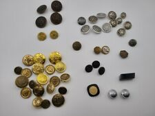 New listing Large Most Vintage Button, Bead Cufflink Lot V7