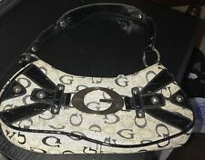 (Genuine) Guess Premium Black / Grey / Zipper Handbag Purse Pocketbook