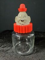 VTG Bosco Clown Chocolate Syrup Bank with Original Glass Jar Hazel Atlas 1950's