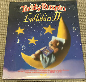NIB 1988 TEDDY RUXPIN LULLABIES II & BLANKET w PILLOW by WOW_NRFB SEALED