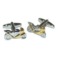 Motorbike Sports Racing Cuff Links New Gold And Silver Two Tone Cufflinks