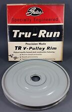 "*NOS* Genuine Gates Tru-Run Steel V-Pulley Rim 10"" OD Groove A (7803-0017 37540)"