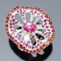 Star Ruby Ring Silver 925 Sterling Jewelry Handmade  Size 8 /R144915
