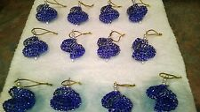 12 HANDMADE CHRISTMAS ORNAMENTS MADE WITH BLING BLUE