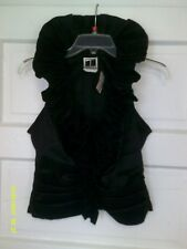 Tadashi - Black Ruffle Front Sleeveless Top --  NEW ----8