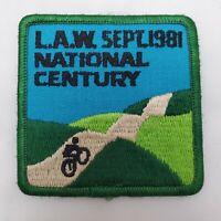 VTG LAW League American Wheelman National Century Run Sept 1981 Bicycle Patch