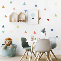 Colorful Hand Draw Vinyl Decals Triangles Wall Sticker Kids Baby Room Art Decor