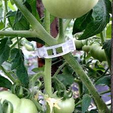 ES_ 100x Trellis Tomato Clips Support Connect Plant Vines Trellis Twine Cage Eye