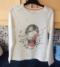Girls White Christmas Angel Long Sleeved Top Age 9 From TU @ Sainsbury's New