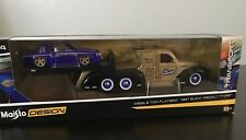 Missile Tow Flatbed Truck & 1987 Buick Regal T-Type Maisto Toy 1:64 Model Cars