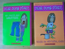 Dear Dumb Diary 2 Book Lot My Pants Are Haunted! 2 by Jim Benton 2004 Paperback