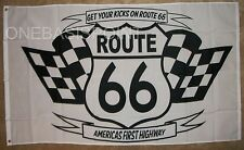 3'x5' Route 66 Historic Highway Flag Outdoor Indoor Banner Classic Cars West 3x5