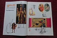"1972 Magazine Cartoon Art Article ""Palette-Able Sex"" by Erich Sokol"