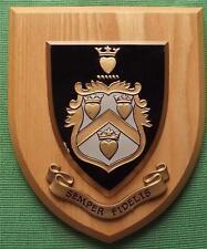 Vintage Semper Fidelis College Grammar School University Crest Shield Plaque