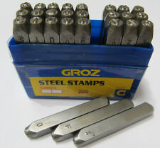 GROZ 4MM LETTER STAMPS 4MM DIAMETER NEW SET 4MM STEEL STAMPS RDGTOOLS