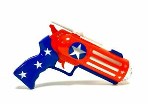 CAPTAIN AMERICA INSPIRED LIGHT UP TOY GUN WITH SOUND EFFECTS AND DISCO LIGHT