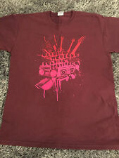 Reading festival 2007 shirt red hot chilli peppers arcade fire  pumpkins nin ash