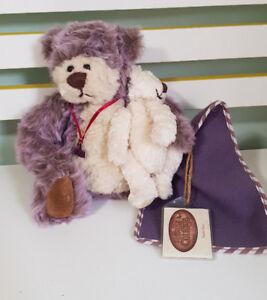 THE GANZ COTTAGE TEDDY BEAR  19CM TAGS! LORRAINE CHIEN! CC11127 MAMA PAWS!