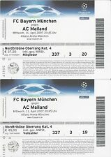 2 Stück Alte Eintrittskarten Champions League 2007 FC Bayern - AC Mailand