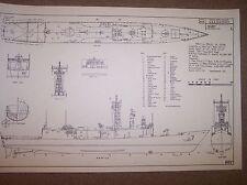 USS O H PERRY FFG7 ship plans