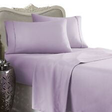 1200 Thread Count 100% Egyptian Cotton Bed Sheet Set 1200TC KING Lavender Solid