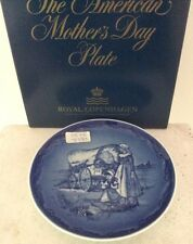Royal Copenhagen 1988 American Mother's Day Plate Western Trail 1st Edition Mib