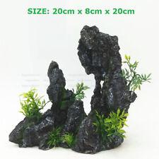 Black Artificial Rockery Aquarium Ornament For Fish Tank Landscape Decorations