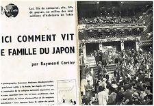 E- Coupure de presse Clipping 1959 (15 pages) Comment vit une famille au japon