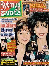 JOAN COLLINS - Vintage Magazine From the Czech Republic RYTMUS ZIVOTA 1997 C#50