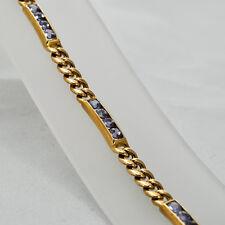 Armband Tansanit GG 585 18,3 Gramm 19cm Tansanit 4,07 ct Handarbeit