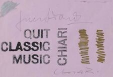 Giuseppe Chiari - tecnica mista su carta 2000 - autentica su foto