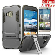 Armor Kickstand Hybrid Case Hard Gel Cover with Stand & Film for HTC ONE M9 2015