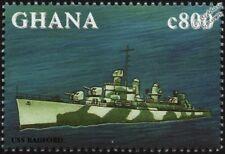 USS RADFORD (DD-446) Destroyer WWII US Navy Warship Ship Stamp (1998 Ghana)