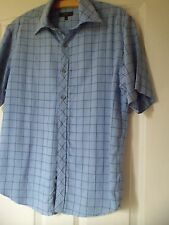 "short sleeve shirt,from Next, in Blue/navy check,size s, 40"" feels like cotton,"