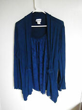 BON WORTH LADIES SIZE MEDIUM DOUBLE Blouse TOP CAREER Wear TOP WITH JACKET