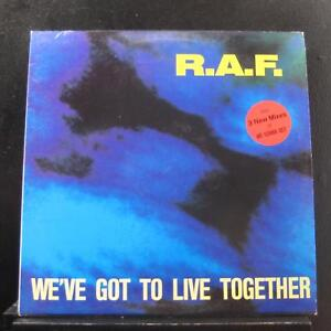 """R.A.F. - We've Got To Live Together 12"""" VG+ ZYX 6654-12 USA 1991 Vinyl Record"""