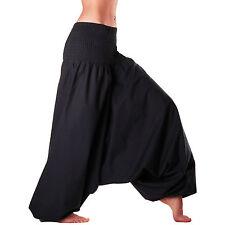 Men & Women Harem Pants Cotton Baggy Yoga Afghani Genie Indian Aladdin Trouser