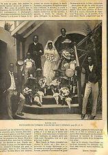 NIGERIA LAGOS MARIAGE NOIR BLACK WEDDING ARTICLE PRESSE DE EDMOND NEUKOMM 1893