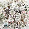 10PCS Czech Crystal Rhinestone Silver European Charm Beads Locks Clip Stoppers