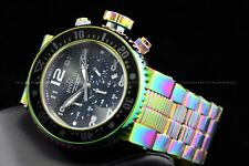Invicta Men 52mm Pro Diver Iridescent Rainbow Chronograph 500M Diver SS Watch