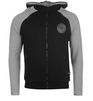883 Police Raglan Full Zip Hoodie Hoody Mens Black Grey UK Size L *REF130