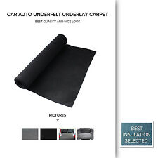 Car Underfelt Underlay Sound Heat Insulation Carpet Black 2M Width Sold By Meter