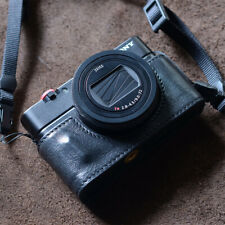 Leather Half Case for Sony RX100 M6 M7 M3 M4 5 Camera Handmade Retro Style Cover